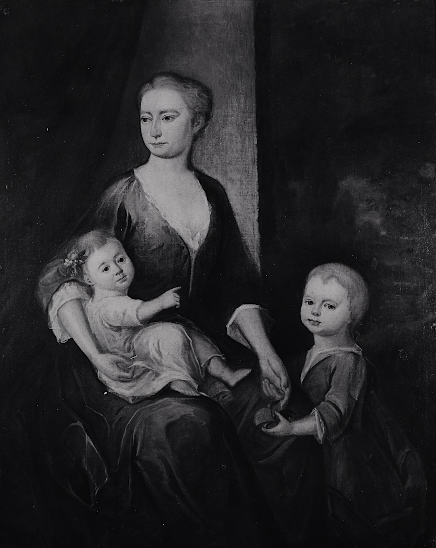 possibly Frances Grymes Ludwell, with oldest daughters Hannah and Frances